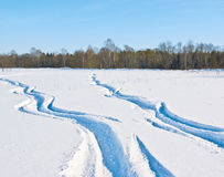 Snow ways Royalty Free Stock Photo