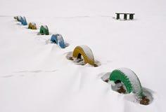 Snow wheels Royalty Free Stock Photos