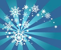 Snow whirlwind Stock Images