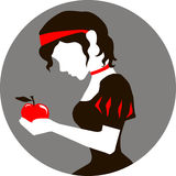 Snow White and the apple Stock Image
