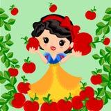 Snow white cartoon Stock Photos