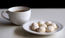 Puteri Salju and a cup of tea royalty free stock photos