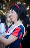 Snow white Costume. In Tel Aviv costume parade. Israel. Photo taken on: March 06th, 2015 stock images