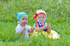 Snow white and the dwarf Royalty Free Stock Photo