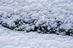 Snow white flakes texture on black background stock photography