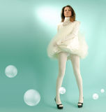 Snow-white girl Stock Photography