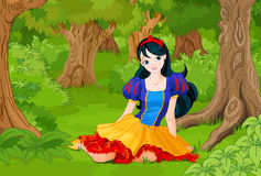 Snow White Girl Royalty Free Stock Images