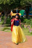Snow white girl show. Pathumthani, THAILAND - December 11, 2017 : Snow white girl show in Dream world, amusement park in Thailand royalty free stock images