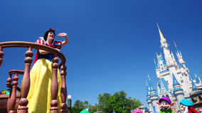 snow white greeting visitor Stock Image