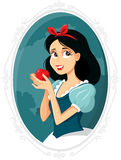 Snow White Holding Apple Vector Illustration Stock Photos