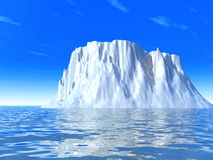 Snow-white iceberg Royalty Free Stock Images
