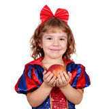 Snow white little girl Stock Photo