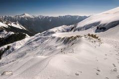 Snow white mountain Stock Photo
