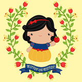 Snow White - Outline Stock Images