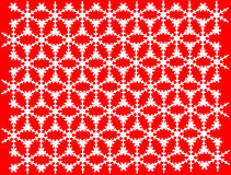 Snow white patterns on red background. Royalty Free Stock Photography