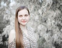 Snow White Portrait - High Key stock images