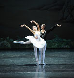 Snow white and Prince Charming-The last scene of Swan Lake-ballet Swan Lake Stock Photos