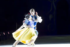 Snow White and Prince Charming Skating. GREEN BAY, WI - MARCH 10: Snow White and Prince Charming skating at the Disney on Ice Treasure Trove show at the Resch Stock Images