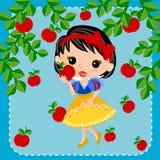 Snow white princess cartoon Royalty Free Stock Photo