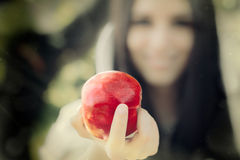 Snow White. Snow-White princess with the famous red apple Stock Images