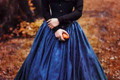 Snow White princess with the famous red apple Royalty Free Stock Image