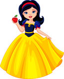 Snow White. Princess Snow White holds the apple Stock Images