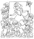 Snow White and seven dwarfs Stock Photography