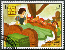 Snow White and seven dwarfs, 1972 royalty free illustration