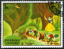 Snow White and the seven dwarfs, 1972 Royalty Free Stock Image