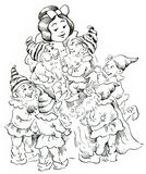 Snow White and Seven Dwarfs. Snow White and the Seven Dwarfs Stock Images