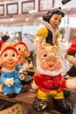 Snow white and the seven dwarfs, gnome doc and dopey Royalty Free Stock Photos