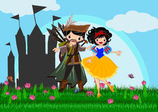 Snow white. Story line illustrations concept Royalty Free Stock Photography
