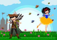 Snow white. Story line illustrations concept vector illustration