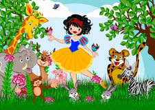 Snow white. Story line illustrations concept stock illustration