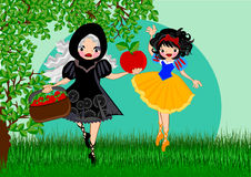 Snow white. Story line illustrations concept Stock Photo