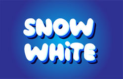 Snow white text 3d blue white concept vector design logo icon Royalty Free Stock Images