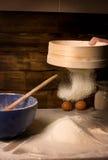 The snow-white wheat meal. Royalty Free Stock Photos