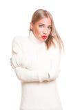 Snow white winter fashion. Stock Image