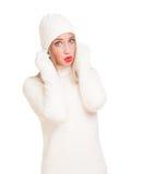 Snow white winter fashion. Royalty Free Stock Photo