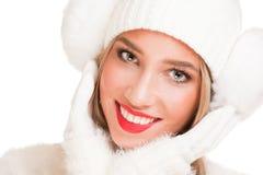 Snow white winter fashion. Royalty Free Stock Image