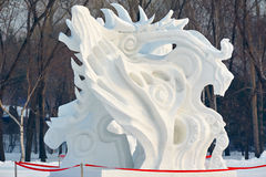 The snow wildness sculpture Royalty Free Stock Images