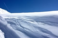Snow & Wind Royalty Free Stock Photography