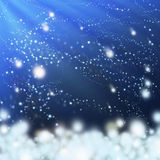 Snow in the wind Royalty Free Stock Image