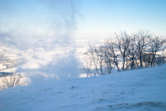 Snow wind in mountains Royalty Free Stock Photography