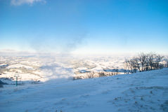 Snow wind in mountains Royalty Free Stock Images