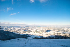 Snow wind in mountains Royalty Free Stock Image