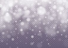 Vector falling snow effect. royalty free illustration