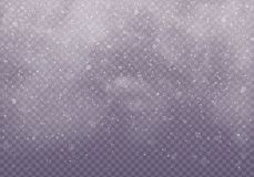 Snow clouds or shrouds. vector illustration