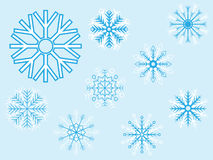 Snow window Stock Photography