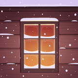 Snow Window Royalty Free Stock Photos